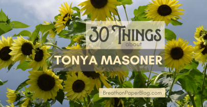 30 Things about Tonya Masoner - Yellow Sunflowers - Photo by Sheree Martin at Shine Springs Farm - BreathonPaperBlog.com