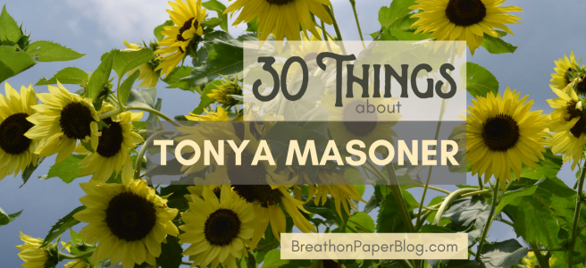 30 Things about Tonya Masoner - Yellow Sunflowers - Photo by Sheree Martin at Shine Springs Farm - BreathonPaperBlog.com