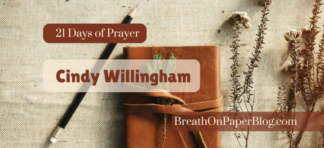 Cindy Willingham - 21 Days of Prayer - BreathOnPaperBlog.com - Leather Journal