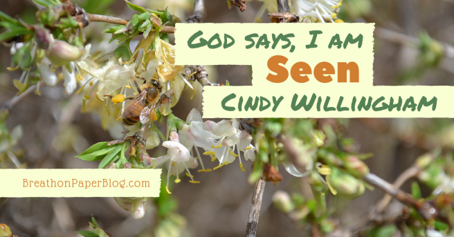 God Says I Am Seen - Cindy Willingham - Breath on Paper Blog